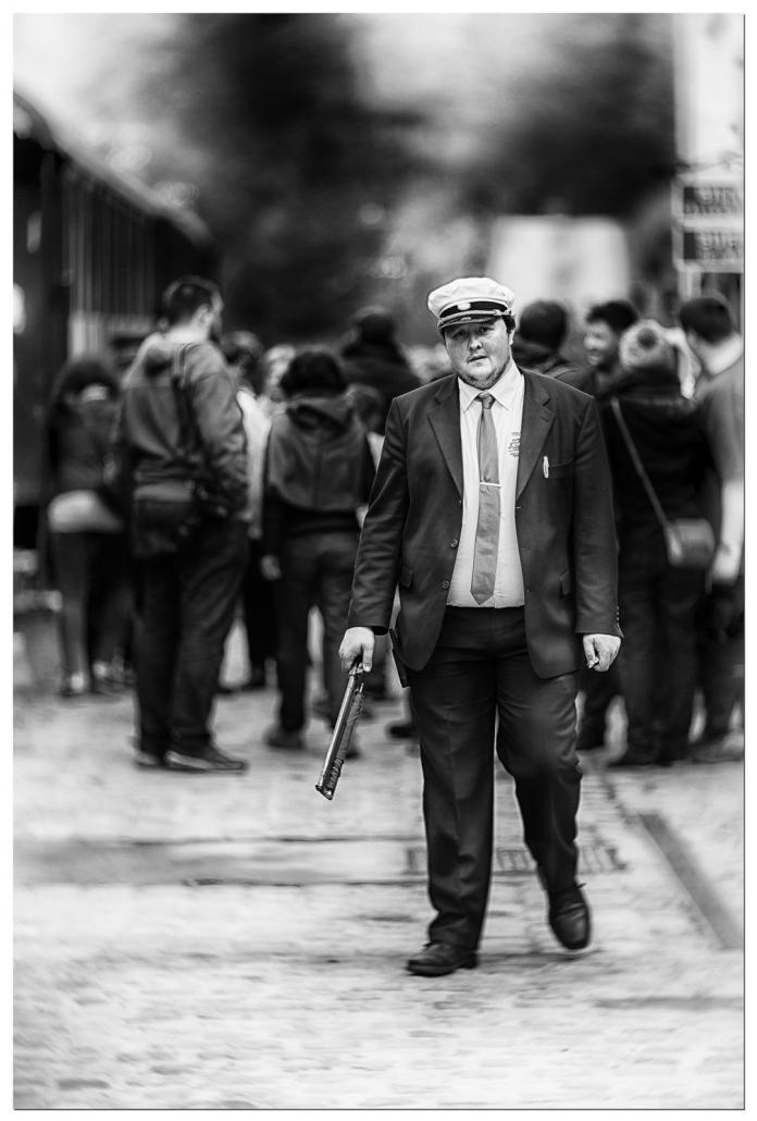 Le chef de gare Olivier Broy